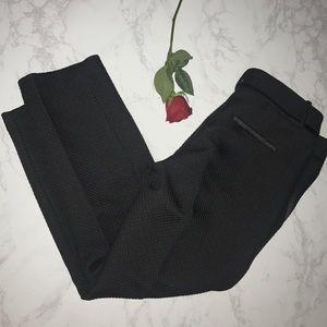 Ann Taylor LOFT black quilted tuxedo Marisa pant 8
